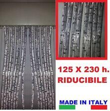 TENDA A FILI PVC cm 125 X 230 GLITTER ARGENTO SILVER per porte interno esterno