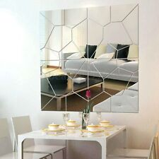 7Pcs Self Adhesive Removable Mirror Wall Sticker DIY Decal Art Mural Home Decor