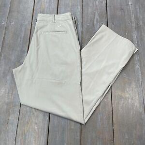 Nike Golf Dri Fit mens light gray golfing golf pants adult size 30x30