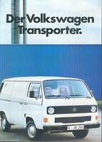 VW Transporter Prospekt 1984 8/84 brochure prospektus catalogus catalog broschyr