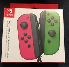 Nintendo Switch Joy Con Wireless Controllers Neon Pink (L)/ Neon Green (R) NEW