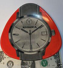 Vintage rare counter store ashtray RODANIA advertising watch clock Ornamin 4130