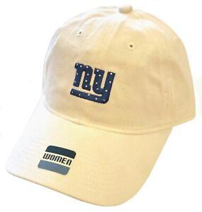 New York Giants NFL Reebok White Bling Sparkle Logo Slouch Hat Cap Women's