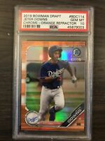 2019 Bowman Draft Chrome Jeter Downs Orange Refractor /25 PSA 10 Dodgers Red Sox