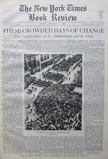 AMERICAN WAY FDR ROOSEVELT REVOLUTION NRA 1933 November 12 NY Times Book Review