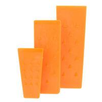 Felled   Spiked Felling Wedges – Orange Plastic Felling Wedge Set – 3 Pack