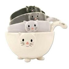 SET OF 4 CAT MEASURING CUPS Nesting Ceramic Bowls Cute Stackable Dishwasher Safe