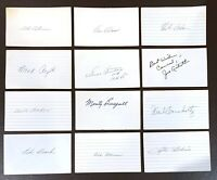 Vintage Baseball *DECEASED* Players SIGNED / AUTOGRAPH 3x5 Index Card  2.95 EACH