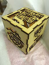 Personalised Spooky Halloween Mdf Light Cube 100x100mm Craft
