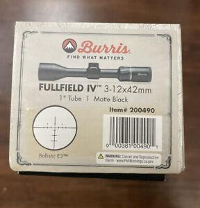 Burris 3-12x42 Fullfield IV Rifle Scope