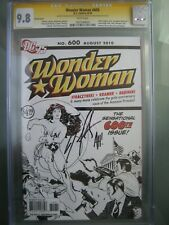 Wonder Woman #600 Sketch Cover CGC 9.8 SS **Signed Adam Hughes & Straczynski**