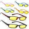 Men Women Night Day Vision Driving Slim Glasses Bad Weather Yellow Sunglasses