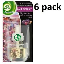 6 X AIR WICK ELECTRICAL PLUG IN AIR FRESHENER OIL REFILLS -  LAKE DISTRICT MIDNI