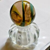 """1 1/4"""" Handmade Marble Gold Stone ! MICA CORE-FOIL RARE ) Marble"""