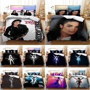 Michael Jackson Duvet Cover Set Rock Star Bedding Pillowcase Quilt Cover Bed Set