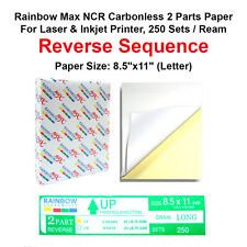NCR Carbonless 2 Parts Paper for Laser & Inkjet Printer, 250 Sets