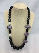 Beautiful Jay King DTR Sterling Silver 925 Black Onyx Purple Stone necklace