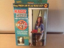 Magic mesh hands free screen door