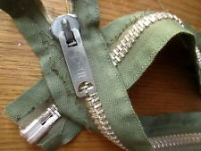 "True Vtg 50's 19""  OG MILITARY HEAVY ALUMINUM EMAR Jacket Zipper USA"