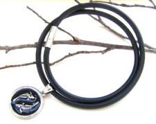 Kautschuk Halskette schwarz 4mm Durchmesser 45cm lang SERAJOSY