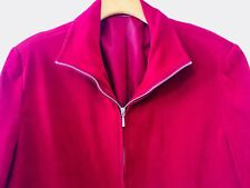 VELVETEEN FEEL L/S ZIPPERED JACKET, Perfect For The Trans Seasons, Smart & Chic!
