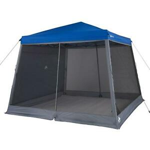 10'x10' Slant Leg Canopy Accessory Pack Includes A Shade Wall And Screen Walls