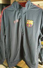FCB Barca Men's XL Navy Full Zip Jacket Barcelona Soccer Futbol NWT