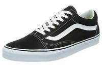 Vans Men's Old Skool Canvas Sneakers, Black/ True White