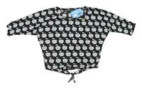 Select Womens Size 10 Graphic Black Apples Top (Regular)