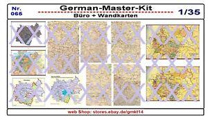 065,Diorama Zubehör Büro- und Wandkarten, Diorama Zubehör, 1:35, GMK World War