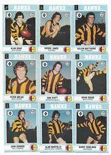 1977 Scanlens HAWTHORN Team Set (12 Cards)