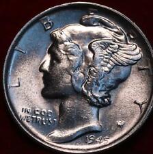 Uncirculated 1945-S San Francisco Mint Silver  Mercury Dime