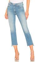 Mother Womens Sz 24 Insider Crop Step Fray Hem Distressed Jeans  $228
