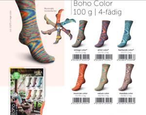6 x 100 gr. Sockenwolle/Strumpfwolle Regia Boho Color     !!! Neu !!!