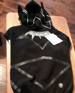 NWT Large Black Panther Dog Costume Marvel Avengers Halloween Fun Hooded