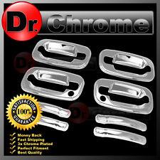 02-06 Chevy Avalanche Triple Chrome 4 Door Handle+PSG Keyhole Cover Kit Set