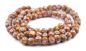 Mauritanian Kiffa Beads 12mm African Multicolor Round Glass Large Hole Handmade