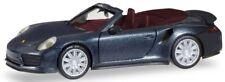 Herpa H0 038928 Porsche 911 Turbo Cabriolet Tiefschwarzmetallic