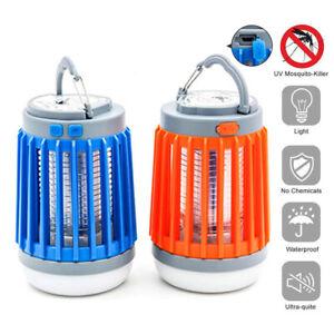 Solar Mosquito Killer Lamp Outdoor Bug Zapper Trap Camping Lantern Tent Light