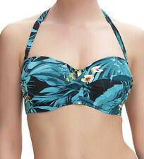 Fantasie Seychelles Fs6105 WP Underwired Padded Bandeau Bikini Top Azure 30g