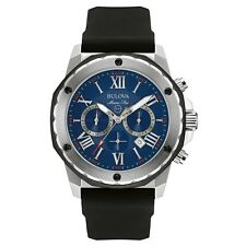 Bulova 98B258 Mens Marine Star Black Chronograph Watch RRP £325