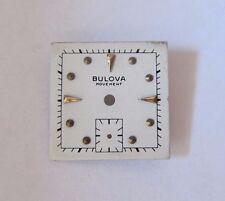 VINTAGE BULOVA SQUARE WRIST WATCH DIAL FACE  19.7 mm NOS