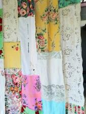 Shabby chic Shower Curtain Boho decor boho curtain Patchwork rustic fabric vtg