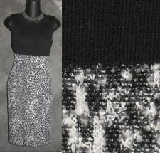 BEAUTIFUL St John black WHITE knit dress sz 2