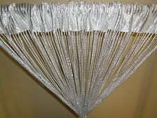 FREE SHIPPING Glitter Fringe String Curtain - Silver White New