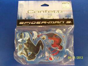 RARE Spider-Man 3 Superhero Birthday Party Decoration Paper Printed Confetti *