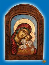 Orthodox Byzantine Icon Wooden Handpainted Mother Of God Orthodoxe Ikone Maria