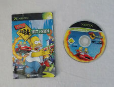 TNE SIMPSONS HIT AND RUN XBOX Original Disc and Manual ONLY Free P&P UK