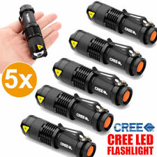 5x CREE Q5 LED Zoomable Focus Bright Flashlight Torch 1200LM Light AA/14500
