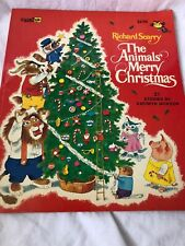 Vintage Richard Scarry The Animals Merry Christmas Book 1972